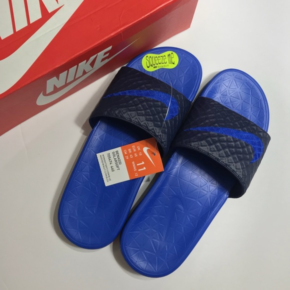 info for 4ce09 a6775 Nike Benassi Solarsoft 2 Men s Slides Navy Blue 11